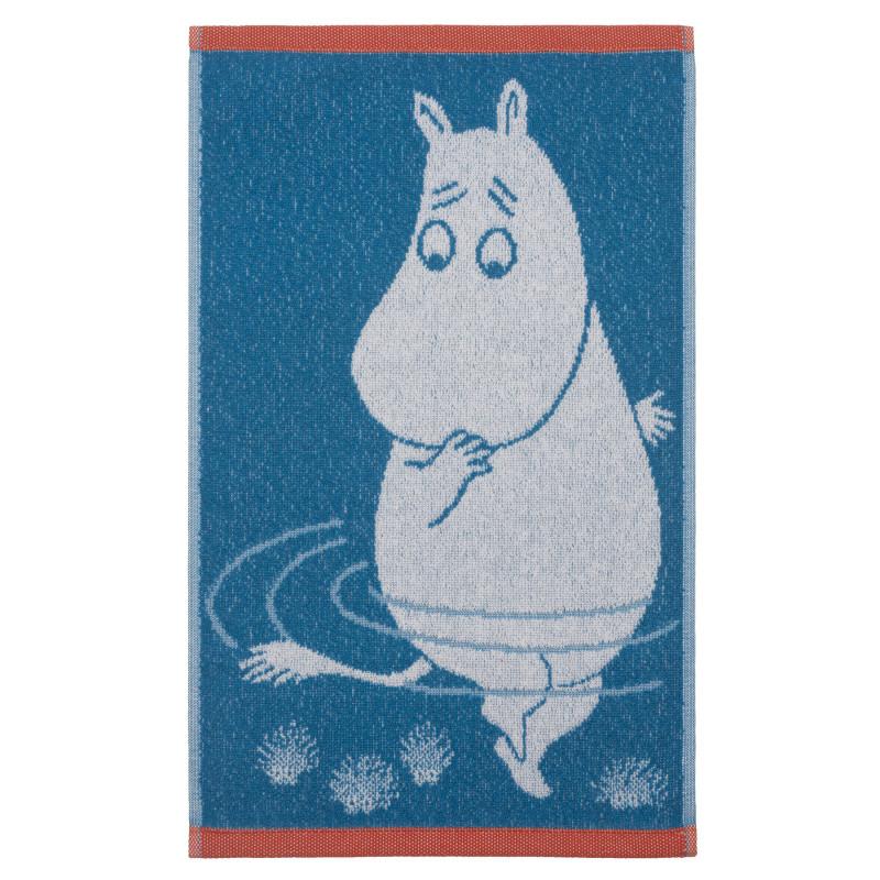 Moomin Hand Towel Moomintroll Turquoise 30 x 50 cm Finlayson