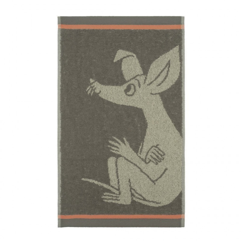 Moomin Hand Towel Sniff Brown 30 x 50 cm Finlayson