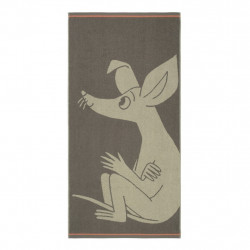 Moomin Bath Towel Sniff Brown 70 x 140 cm Finlayson