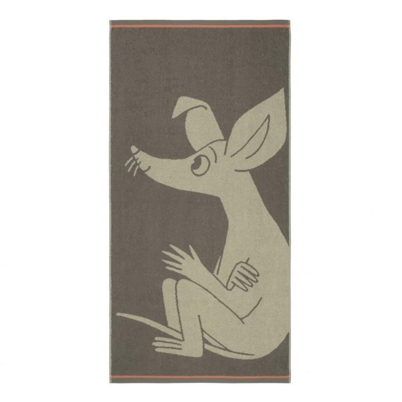 Moomin Bath Towel Sniff Brown 70 x 140 cm Finlayson