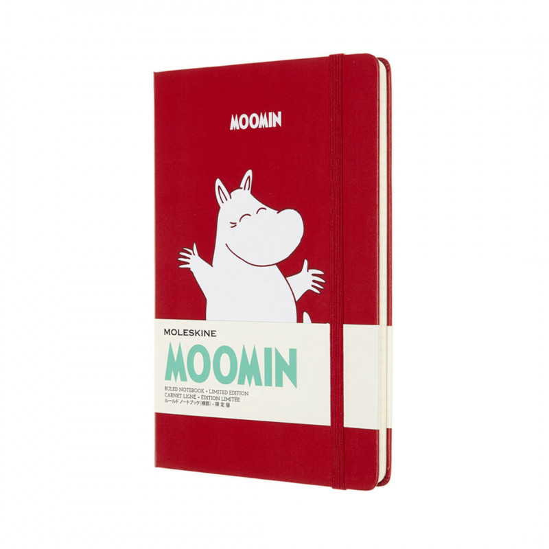 Moomin Moleskine Notebook Limited Edition Red Lined Paper