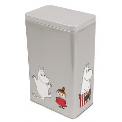 Moomin Characters Coffee Tea Tin Can Grey Mamma, Pappa, Troll