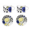 Paratiisi Set of 2 Cups and 2 Saucers in Gift Box 0.18 L 14 cm