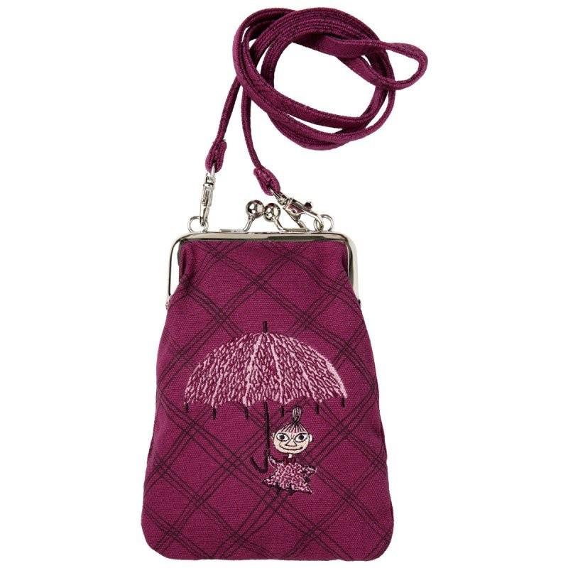 Moomin Vinssi Little My Umbrela Dance Long Strap Purple Purse