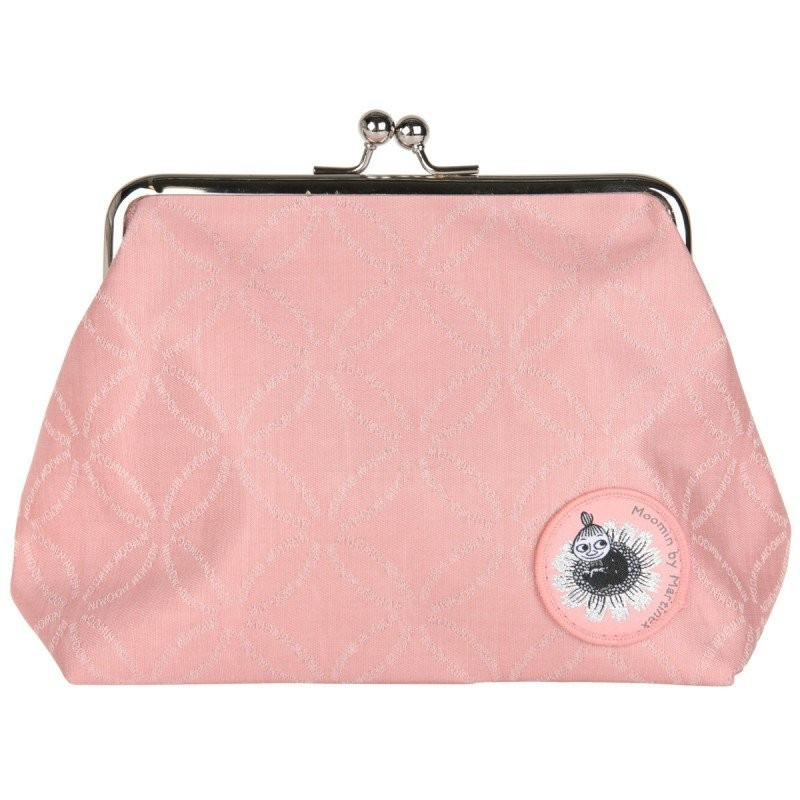Moomin Emma Purse Clutch Bag Moomin logo pink
