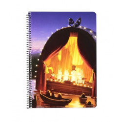 Moomin Spiral Notebook Moomin Valley Animation Golden Tale A5 80 Squared Pages 7x7 mm