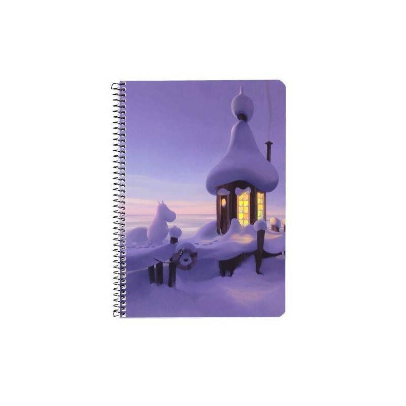 Moomin Spiral Notebook Moomin Valley Animation Mid Winter A5 80 Squared Pages 7x7 mm