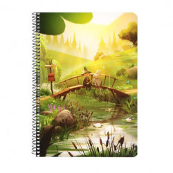 Moomin Spiral Notebook Moomin Valley Animation Last Dragon A5 80 Squared Pages 7x7 mm