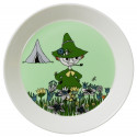 Moomin PLate 19 cm Snufkin Green New 2015 Arabia