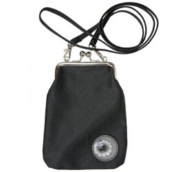 Moomin Vinssi Long Strap Purse Moomin Logo Black