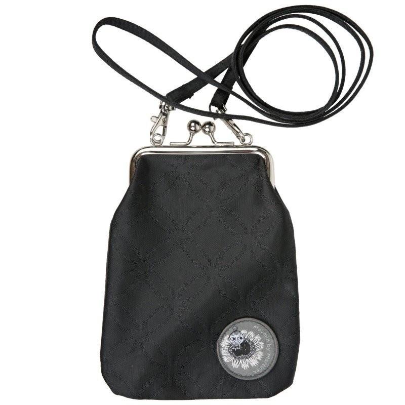 Moomin Vinssi Long Strap Purse Moomin Logo Black