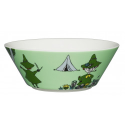 Moomin Bowl 15 cm Snufkin Green New 2015 Arabia