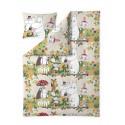 Moomin Duvet Cover Pillowcase Park Yellow Green 150 x 210 cm 50 x 60 cm