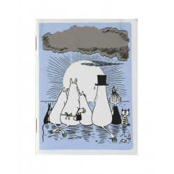 Moomin Small Notebook Family Sunset 9 x 12 cm