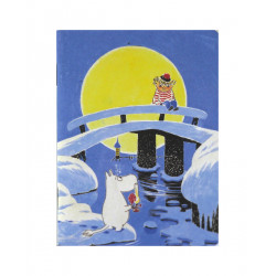 Moomin Small Notebook Tooticky Winter Bridge 9 x 12 cm