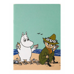 Moomin Notebook A5 Moomintroll and Snufkin on the Beach
