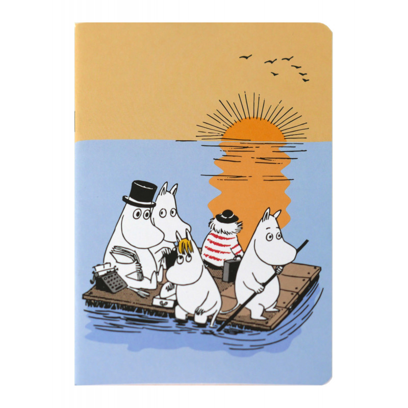 Moomin Notebook A5 Moomins on the Raft