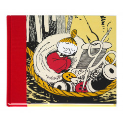 Moomin Clothbound Hardback Notebook Little My in Basket Putinki 20.5 x 16.5 cm