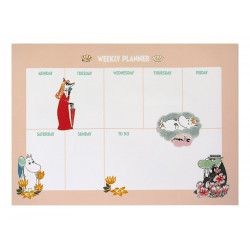 Moomin Weekly Planner 52 Identical Sheets Gloss Pictures