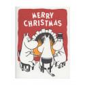Moomin Greeting Card Letterpressed Christmas Tea