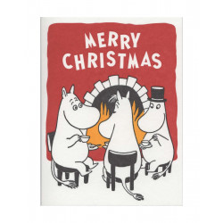Moomin Greeting Card Letterpressed Christmas Tea