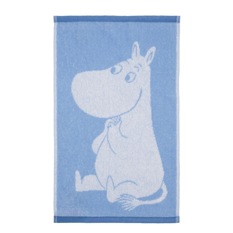 Moomin Hand Towel Moomintroll Love Light Blue 30 x 50 cm Finlayson