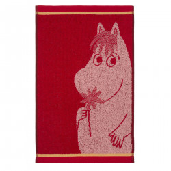 Moomin Hand Towel Snorkmaiden with Flower Red 30 x 50 cm Finlayson