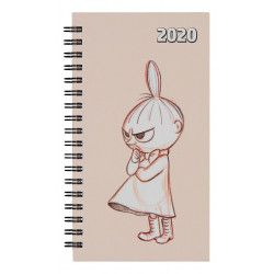 Moomin Pocket Calendar 2020 Little My Light Pink 16.5 x 9.2 cm