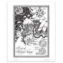 Moomin Poster The Map of Moomin Valley 24 x 30 cm