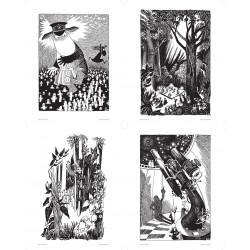 Moomin Set of 4 Posters...