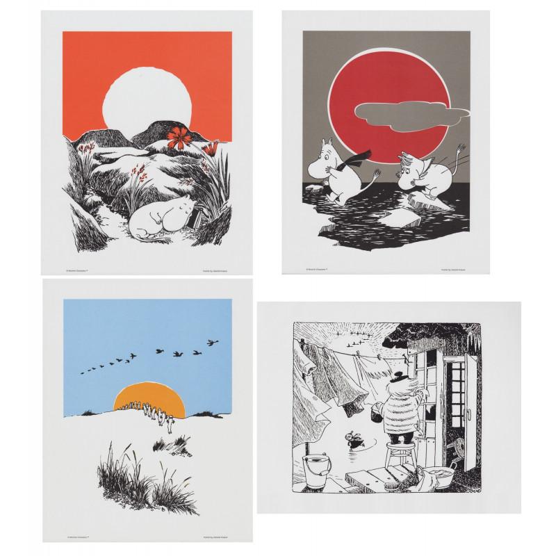 Moomin Posters 24 x 30 cm Set of 4 Putinki (Set 16)