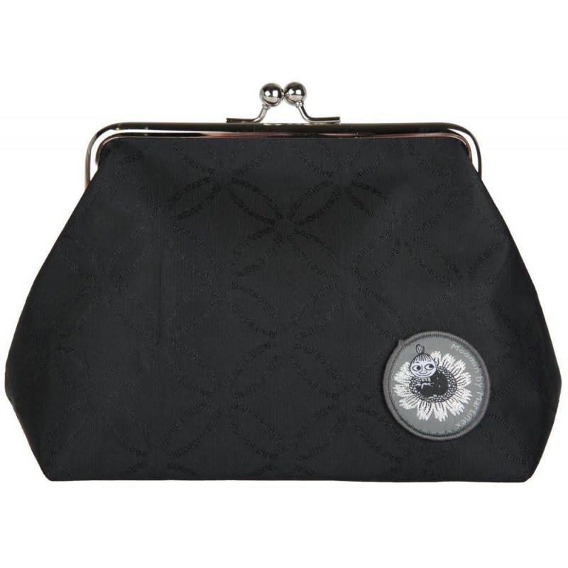 Moomin Emma Purse Clutch Bag Moomin Logo Black