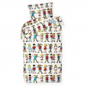 Pippi Longstocking and Friends Duvet Cover Pillowcase 150 x 210 cm 50 x 60 cm