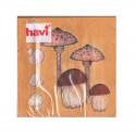 Havi Paper Napkin Mushrooms Brown 24 cm