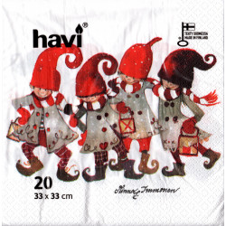 Havi Paper Napkins Group of Elfs Minna Manonen 33 cm