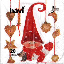 Havi Paper Napkins Boy Elf Minna Manonen 33 cm