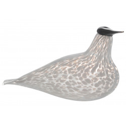 Muurla Glass Bird Waxwing White 17 cm