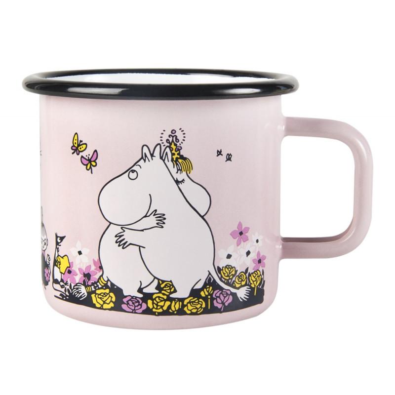 Moomin Enamel Mug Hug Pink 0.37 L Muurla