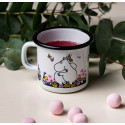 Moomin Enamel Mug Hug White 0.25 L Muurla