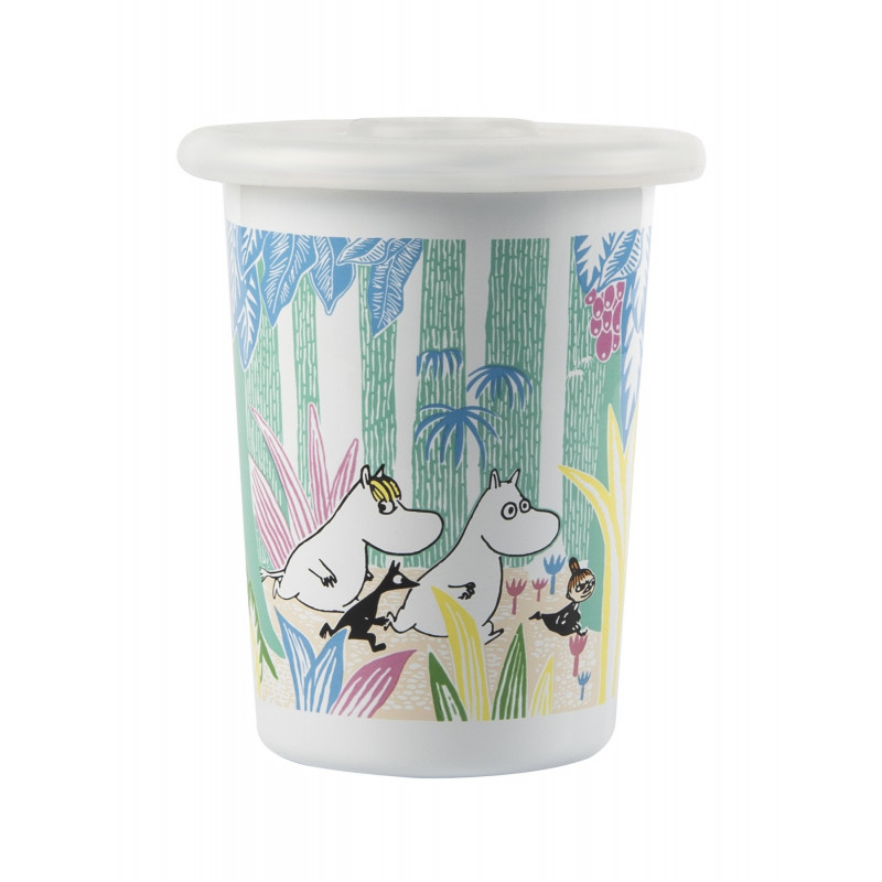 Moomin Enamel Tumbler Moomins in the Jungle 0.5 L Muurla