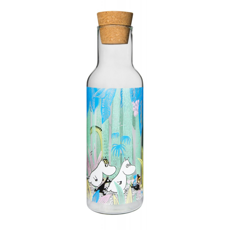 Moomin Glass Bottle Moomins in the Jungle 1.0 L Muurla