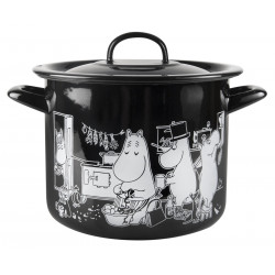 Moomi in The Kitchen Enamel Pot with Lid 3.5 L