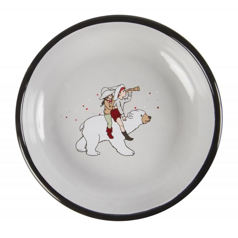 Enamel Plate 18 cm Belle and Boo Parade Muurla