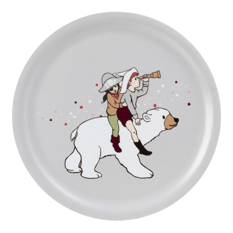 Belle and Boo Parade Round Tray 25 cm Muurla