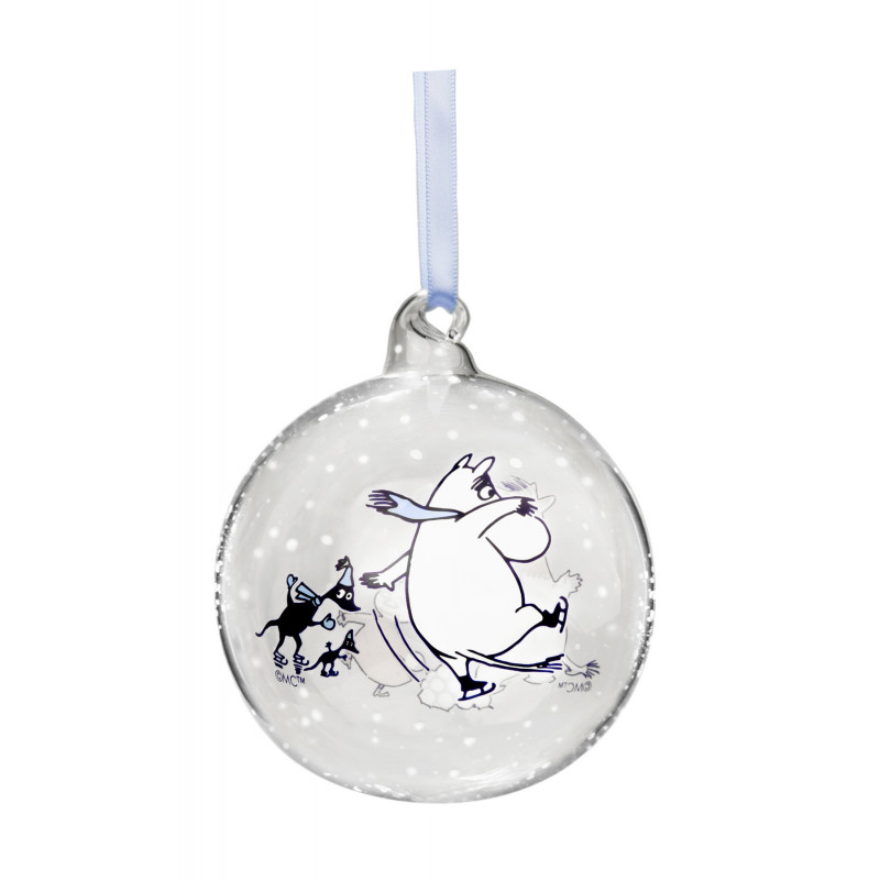 Moomin Decoration Ball Moomin and Snorkmaiden 9 cm