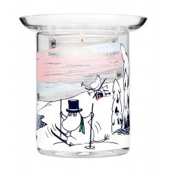 Moomin Winter Time Tealight Holder Two-Piece 10 cm