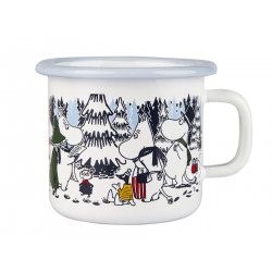Moomin Enamel Mug Winter Forest 0.25 L