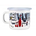Moomin Enamel Mug Winter Forest 0.25 L