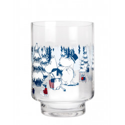 Moomin Lantern Vase Winter Forest 20 cm