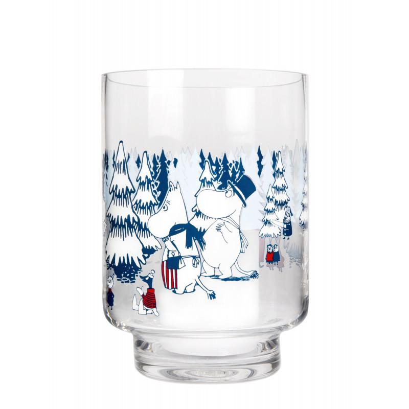 Moomin Lantern Vase Winter Forest 20 cm